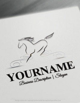 Customize this Horse online Logo Template brand yourself with our free logo maker. Make your own animal logos without graphic designer skills