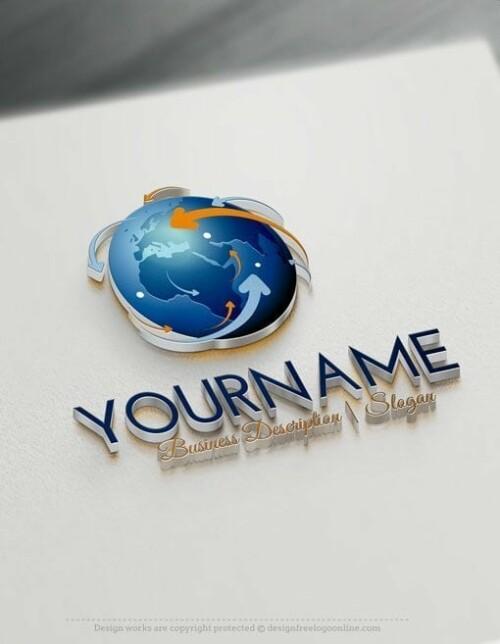 Design Free Logo: Network Globe Online Logo Template