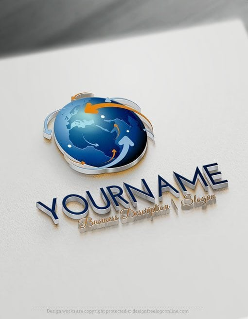 Design-Free-Logo-Network-Globe-Online-Logo-Template