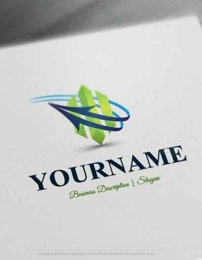 Easily customize this Abstract Arrow Logo template yourself with our free logo maker. Make own logo designs without graphic designer skills.