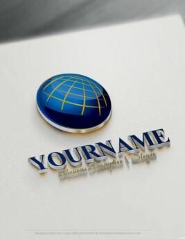 Design-Free-Logo-Online-Globe-Network-Logo-Template