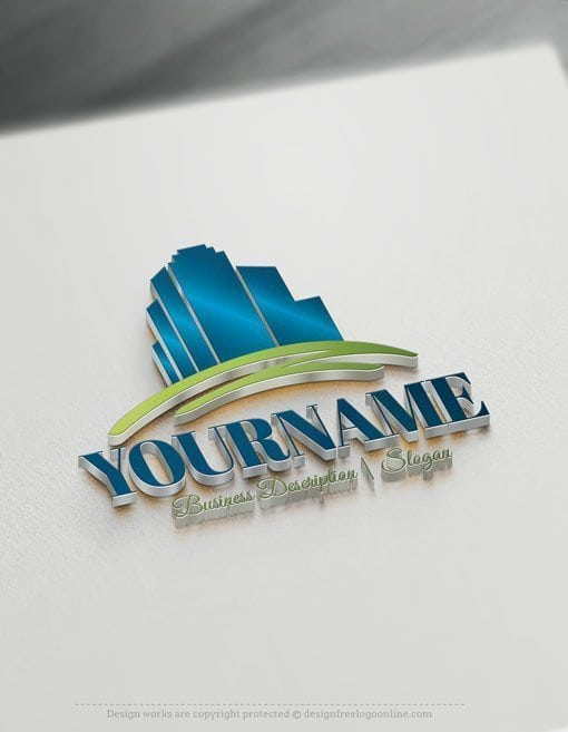 Customize this brand yourself with our free logo maker. Make your own Real Estate Buildings logo template without graphic designer skills.