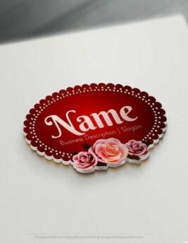 Design-Free-Logo-Vintage-Roses-frame-Logo-Template