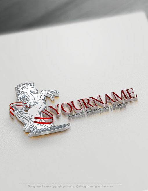 customize this online Horse Logo Template brand yourself with our free logo maker.