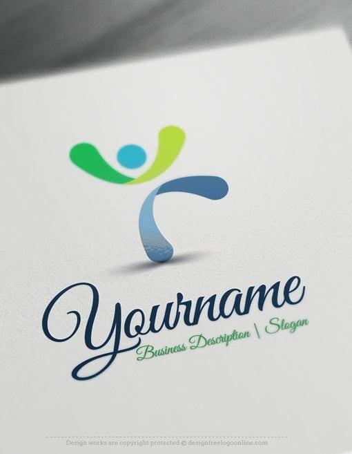 Design-Free-Man-jumps-Online-Logo-Template