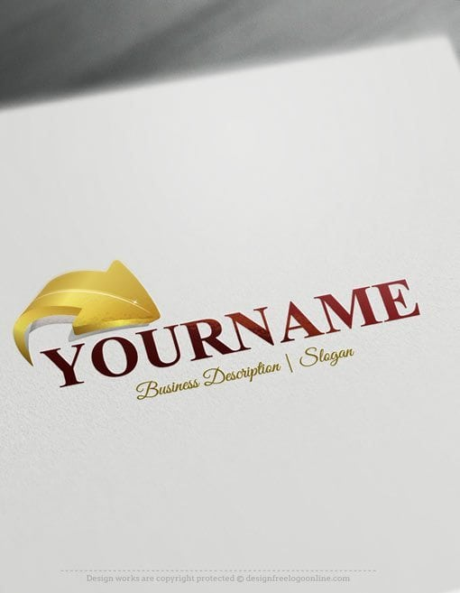 Design-Free-Online-3D-Arrow-Logo-template