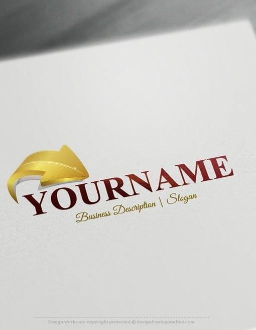 Design-Free-Online-3D-Arrow-Logo-template