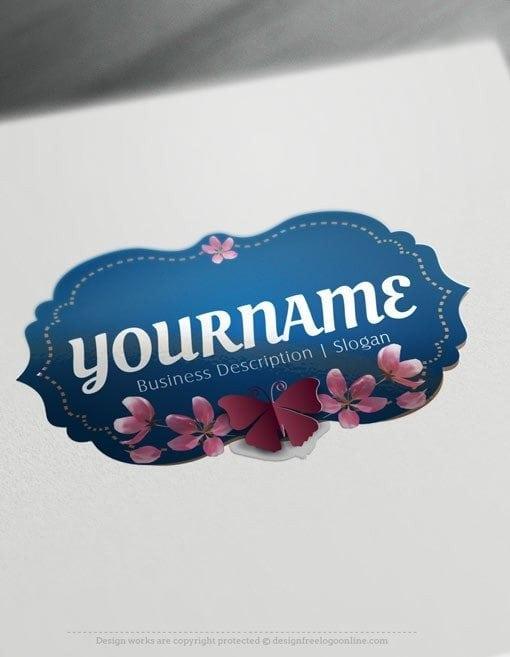 Design-Free-Online-Butterfly-frame-Logo-Template