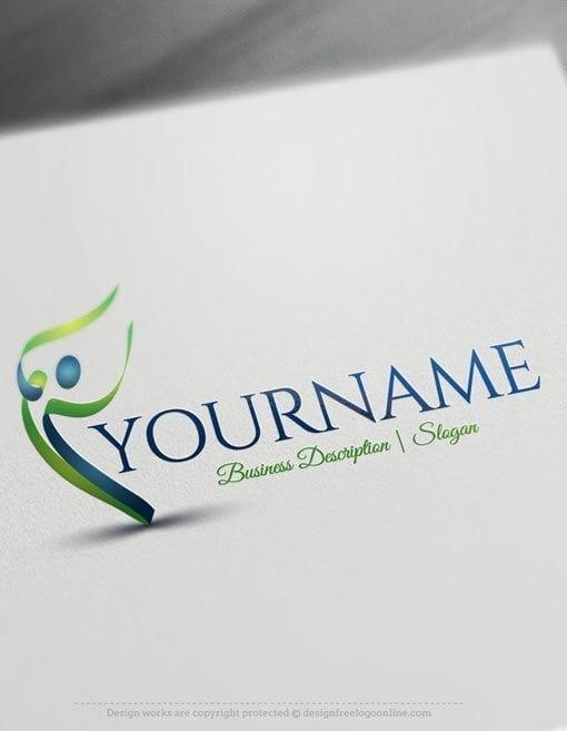 Design-Free-Online-Human-Dance-Logo-Template