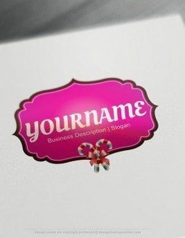 Design-Free-Online-Sweet-candy-LogoS-Template