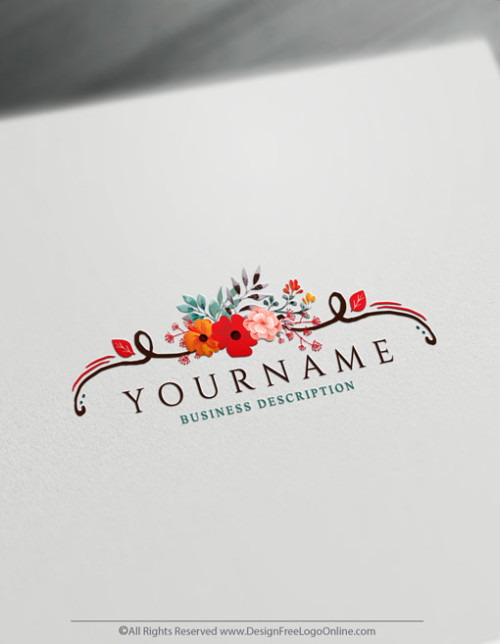 create hand-drawn flowers Logo with the Logo Maker. Download your watercolor flowers Logo