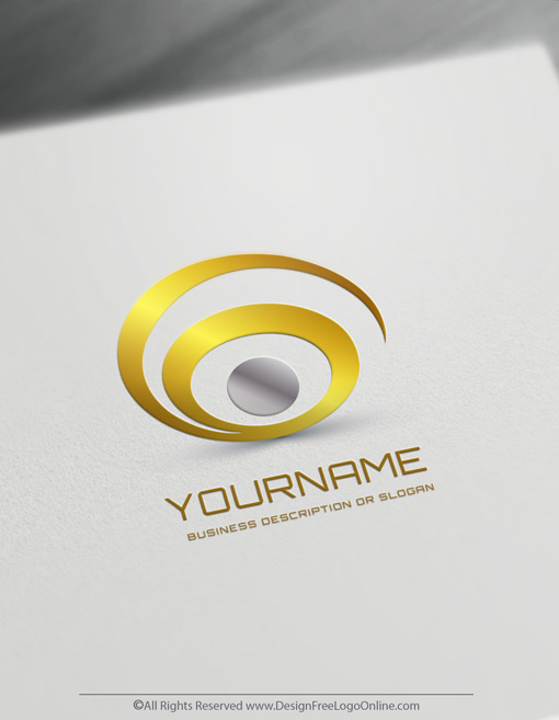 Design Your Own Abstract Spiral Logo with free Eye logo templates