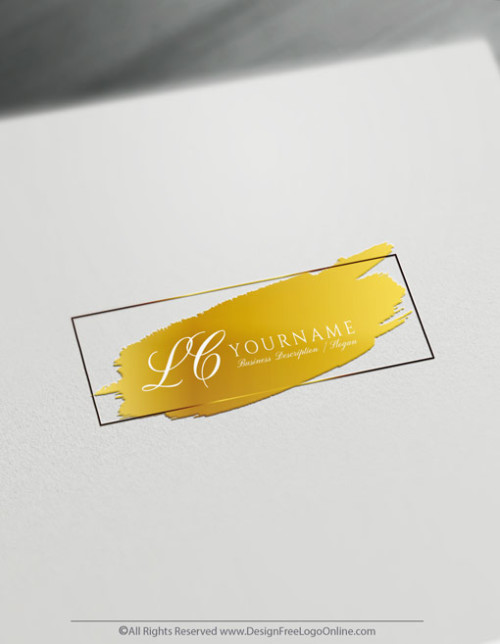 Design a Square Logo Free - Elegant Initial Logo Template