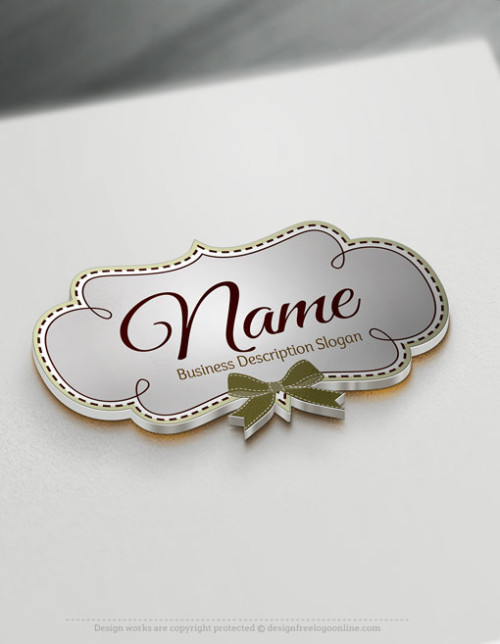 Design a logo online using Frame Bow Logo Template