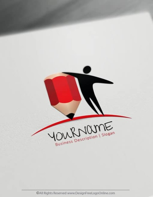 Create a Logo For Free – Education Logo Design Template
