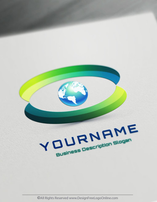 Free 3D Logo Maker - 3D Eye Globe Logo Design template
