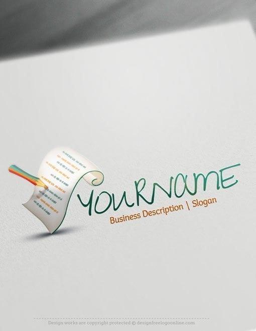 Design Free Logo: Education Pencil Logo Template