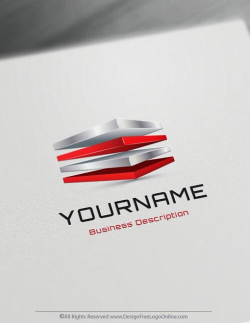 3D 4 Cubes Logo Templates