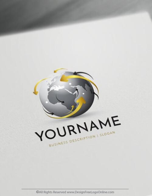 Golden 3D Globe Logo