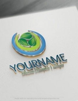Green-Spiral-leaves-Logo-Template