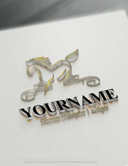 Horse-online-Logo-Template