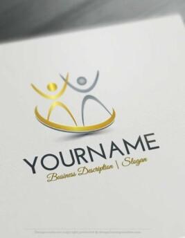 Create a logo free puzzle name logo templates design free logo human group jump logo template pronofoot35fo Choice Image