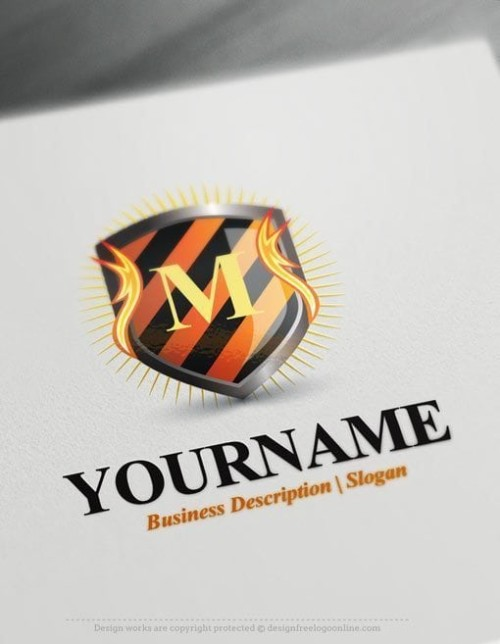 Initials-Fire-Shield-Logo-Template
