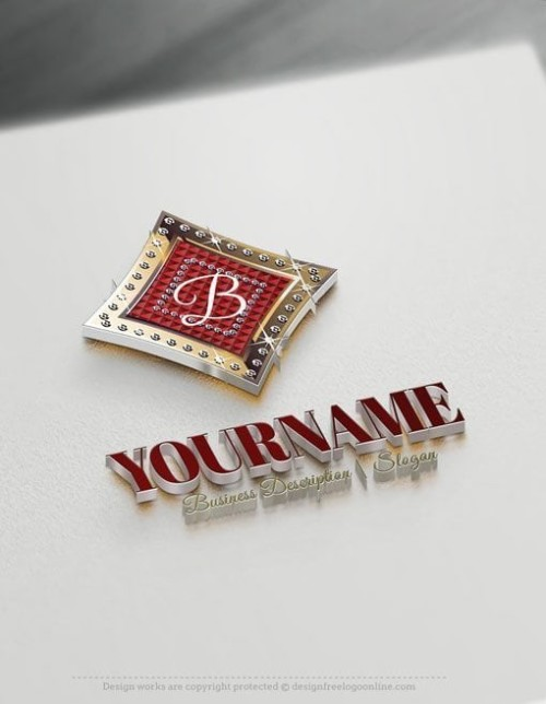 Initials diamonds Logo Template