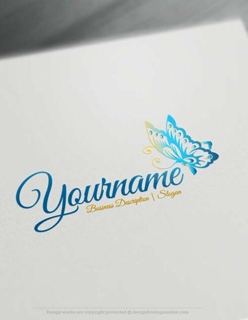 Luxury Online Logo Butterfly logos