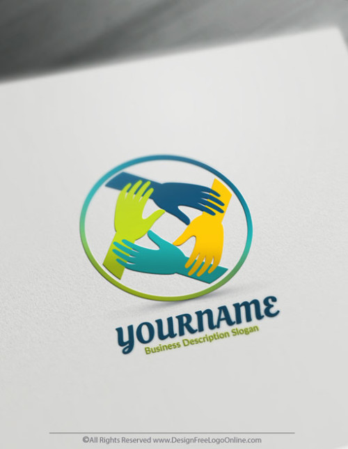 Make your own Hands logotype free! Download your new Logo Today