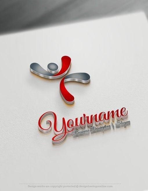 Man-jumps-Online-Logo-Template