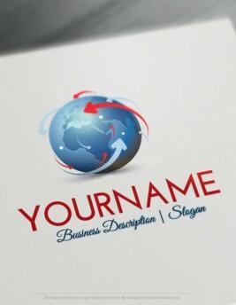 Network Globe Online Logo Template