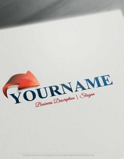 Online-3D-Arrow-Logo-template