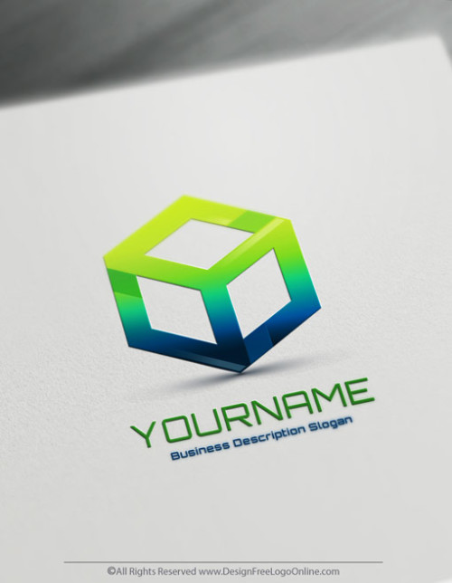 Create Your Own Online 3D Cube Logo Design using the best 3D Logo Maker