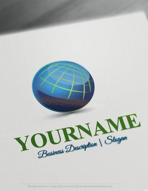 Design free logo online globe network logo template for Design online