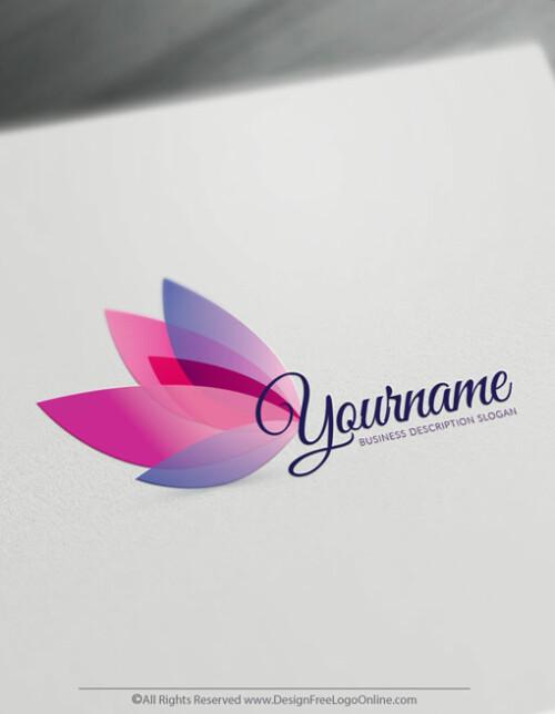 online Pink Butterfly Logo maker