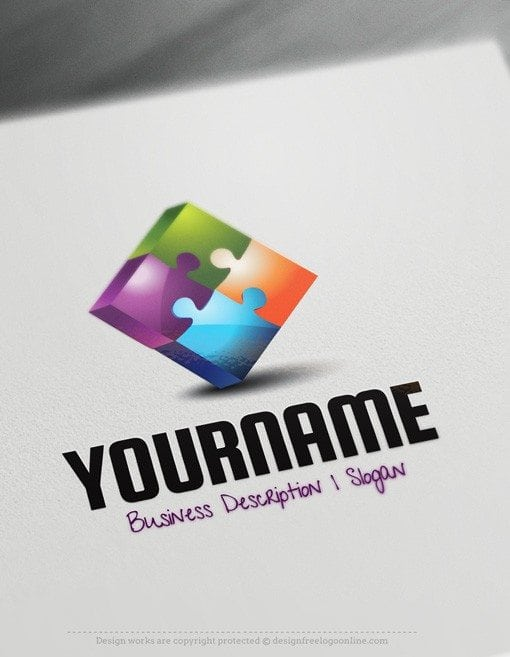 Puzzle-Online-Logo-Template