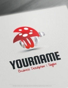 Ready-made-Online-animal-logo-template-for-sale-Decorated-with-an-image-of-3D-ladybug