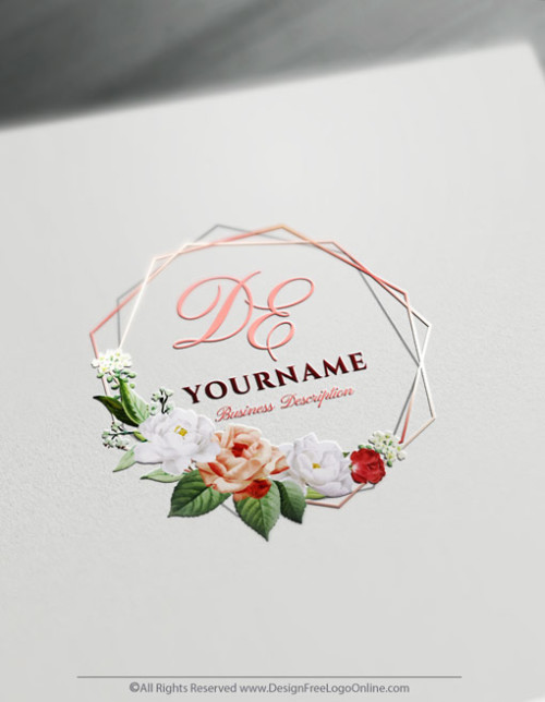 Design your own Vintage Rose Logo