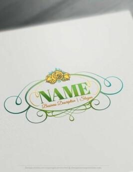 Vintage-Rose-frame-Logo-Template