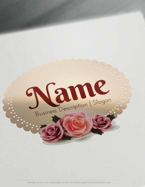Vintage-Roses-frame-Logo-Template