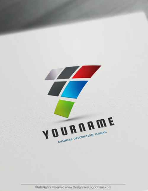 Colorful abstract logo creator