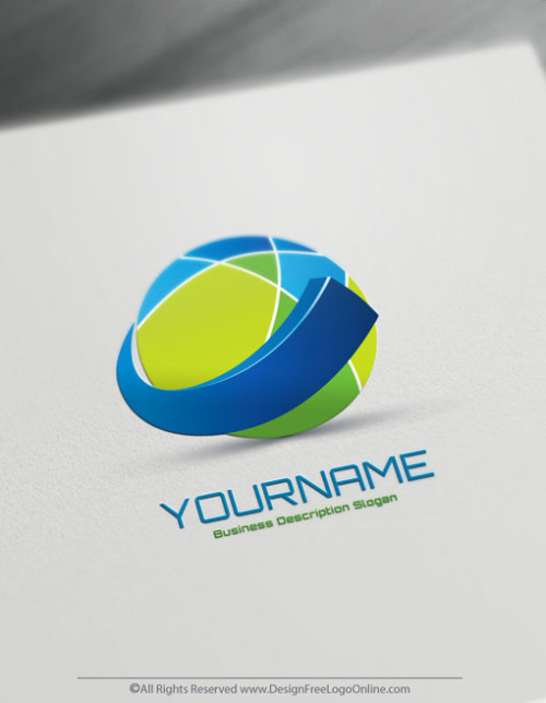 Use the free 3D logo making app to online customize your own 3D Logos.