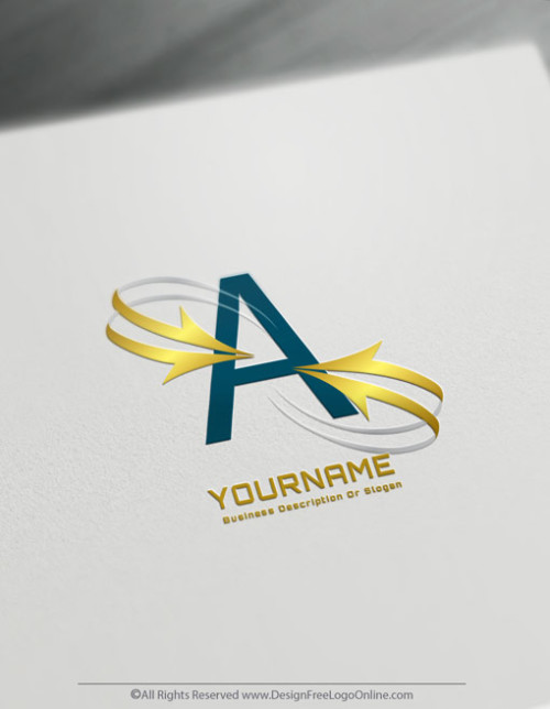 Create Golden Alphabet Logos For Free With The Arrows Logo Template