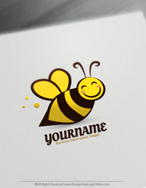 Create Your Own Online Honey Bee Logo Design Ideas.