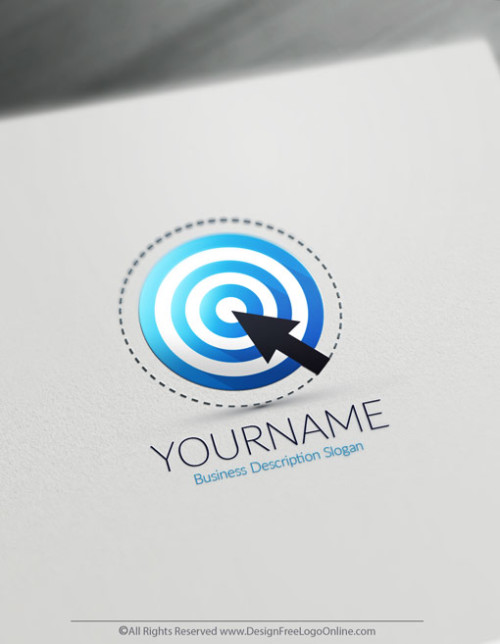 Design your own Blue Target logo online using the Business Logo Maker app.