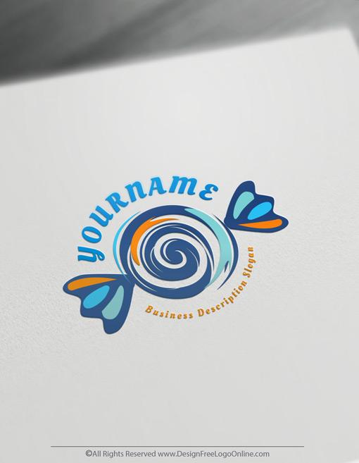 blue simple Sweet Logo maker