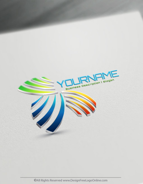 Create Your Own Abstract 3D Logo with free logo design templates