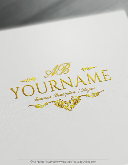 vintage design your own Alphabet logo online