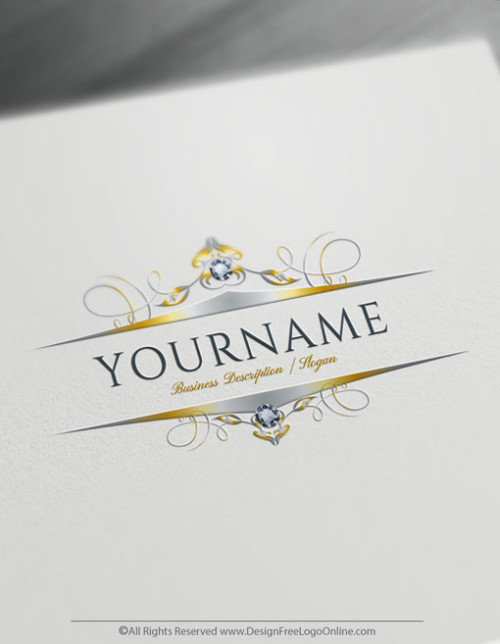 Design your own frame Logo by using the Diamond logo maker